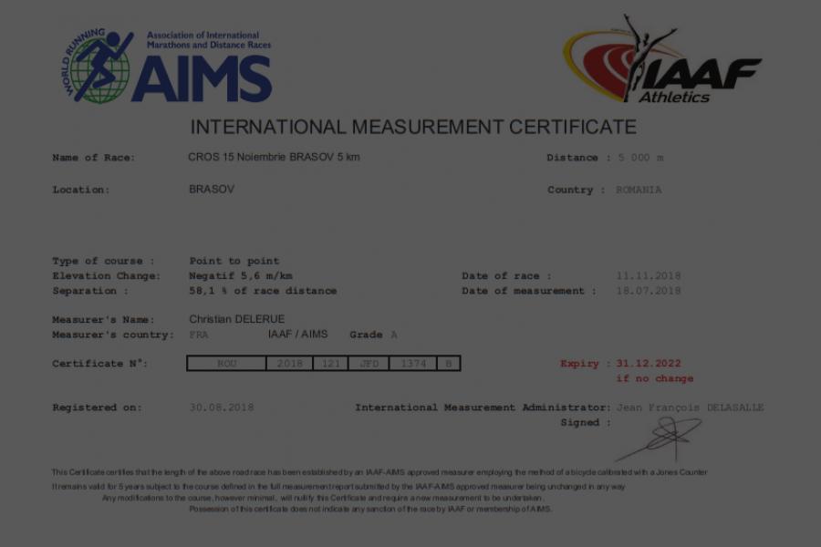 Certificat AIMS black